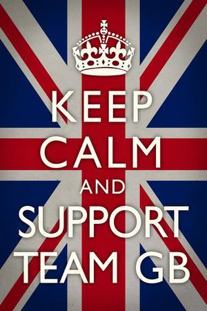 Keep Calm and Support Team GB Sports Plastic Sign