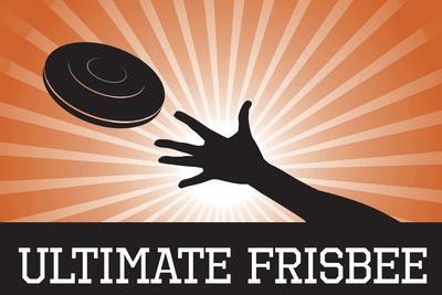 Ultimate Frisbee Orange Sports Plastic Sign