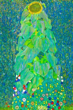 Gustav Klimt The Sunflower Plastic Sign