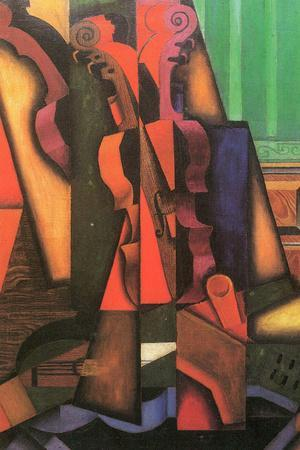 Juan Gris Violin and Guitar Plastic Sign