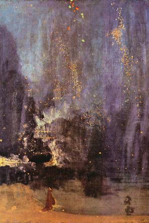 James Abbot McNeill Whistler Nocturne in Black and Gold, Falling Rocket Plastic Sign