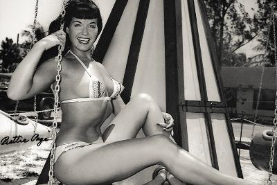 Bettie Page Swing Ride Poster