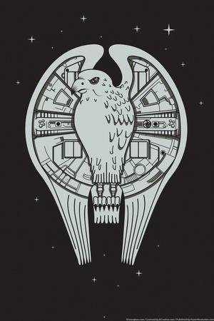 The Fastest Falcon in the Universe Snorg Tees Plastic Sign