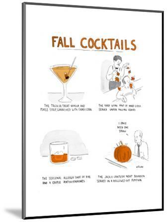 Fall Cocktails - Cartoon