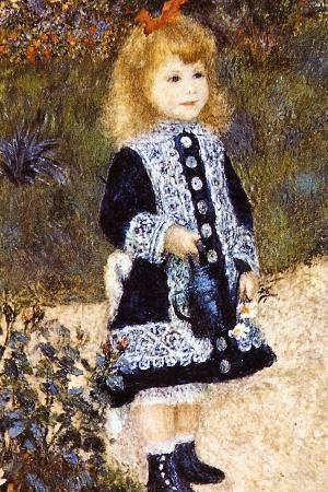 Pierre Auguste Renoir Girl with the Watering Can Plastic Sign