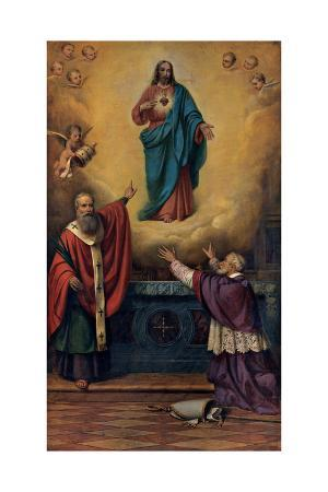 Sacred Heart of Jesus with St. Marcel and Blessed Juvenal Ancina