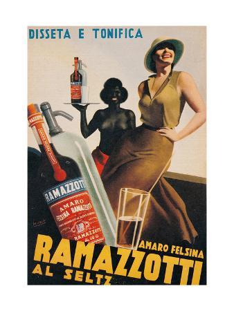 Advertising poster for Amaro Felsina Ramazzotti Water