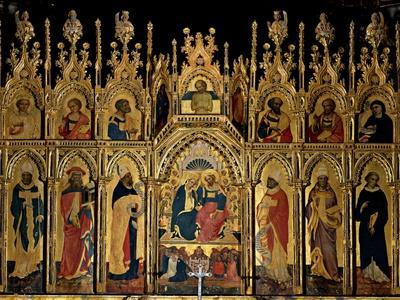 Polyptych of the Coronation of the Virgin and Saints, Jacobello del Fiore, 15th c. Italy