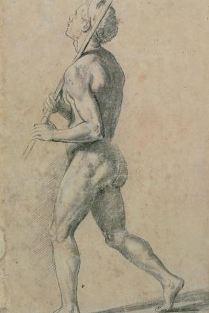 Drawing, Male Nude Walking