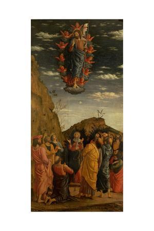 Uffizi Triptych. Ascension of the Christ
