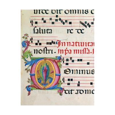 Illuminated manuscript by Benvenuto di Giovanni, 15th c. Osservanza Basilica, Siena, Italy