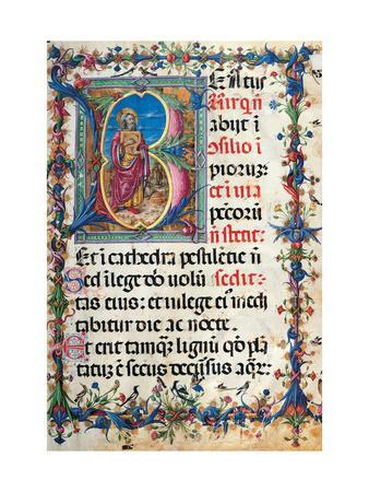 Psalter with holiday Hymns, illuminated manuscript, 15th c. Osservanza Basilica, Siena, Italy