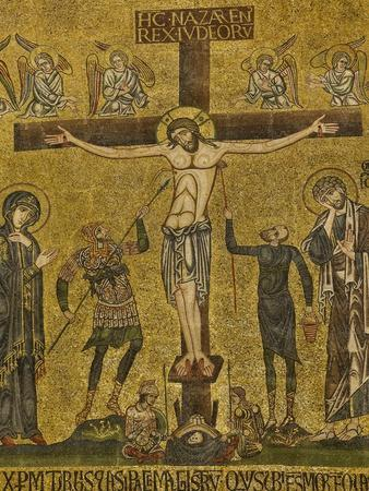 Crucifixion. Central dome. Arch. St. Mark's Basilica, Venice, Italy 10th c.