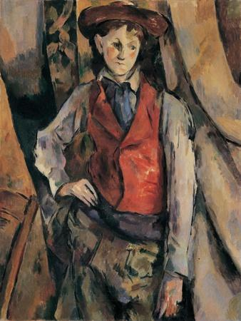 Man with a Red Waistcoat, copy after Cezanne by Egisto Paolo Fabbri, 20th c.