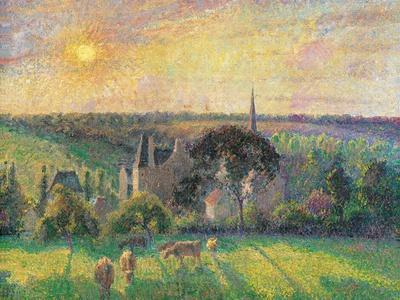 Landscape at Eragny with Church and Farm