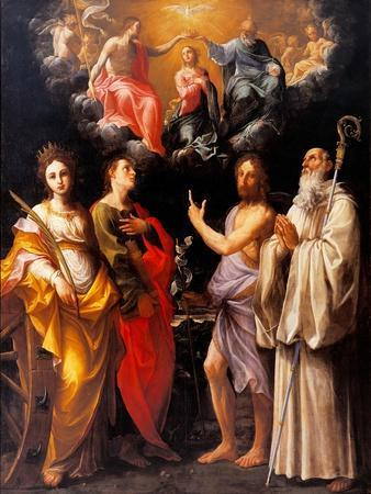 Coronation of the Virgin with Four Saints