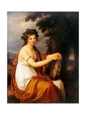 Portrait of a Young Girl as a Bacchante (Bacchante)