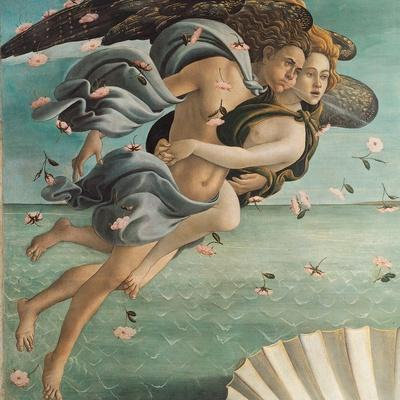 Birth of Venus, Zephyrus and Aura
