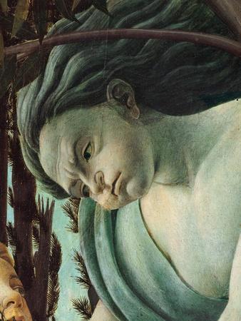 Primavera, Face of Zephyrus blowing