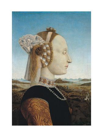 Duke and Duchess of Urbino and Triumphs, Piero della Francesca, 1465-1472. Uffizi Gallery.