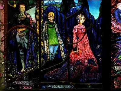 Detail from the Geneva Window Showing 'The Dreamers' by Lennox Robinson (1886-1958)