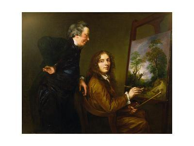 Self Portrait with His Preceptor Charles Spackman