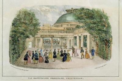 Montpelier Promenade, Cheltenham, Engraved by W. Clerk, c.1835
