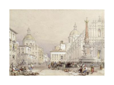 The Square of the Elephant, Catania, 1839