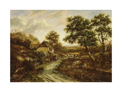 Overshot Flint Mill in Landscape with Fall of Water, 1831