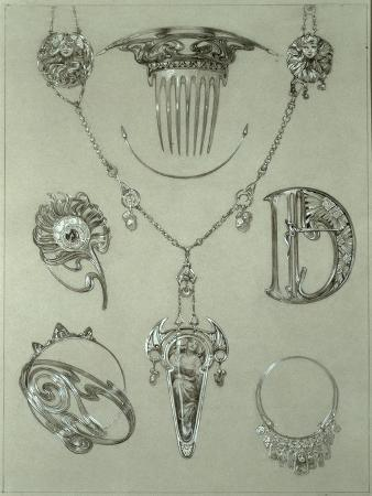 Study for Plate 49 from 'Documents Decoratifs', 1902