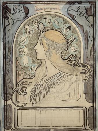 Study for 'Zodiac', 1896