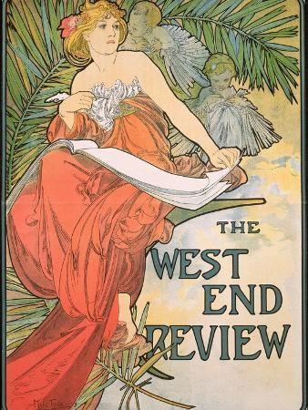 Poster Advertising 'The West End Review', 1898
