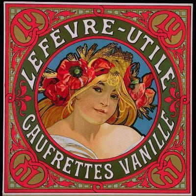 Poster Advertising 'Lefevre-Utile Gauffrettes Vanille', 1897