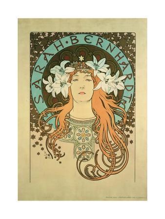 Sarah Bernhardt (1844-1923) La Plume, 1896