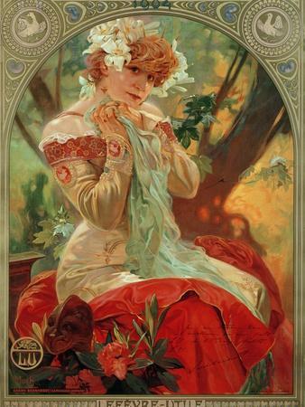 Sarah Bernhardt (1844-1923) Lefevre-Utile, 1903
