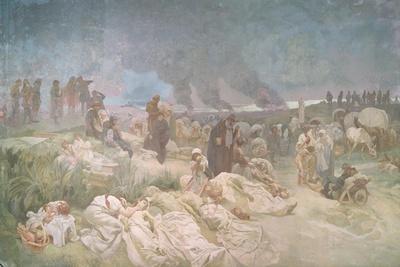 Peter Chelcicky (C.1390-C.1460) at Vodnany, from the 'Slav Epic', 1918