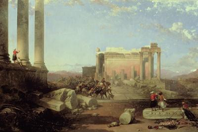 The Ruins of the Temple of the Sun at Baalbec, 1861