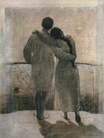 Young Couple, Central Panel from the Dream and Reality Triptych, 1905