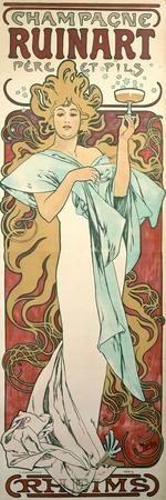 Poster Advertising 'Ruinart' Champagne, 1896