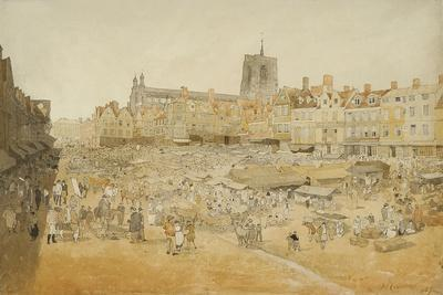 The Market Place, Norwich, Taken from Mr Cooper's, 1807