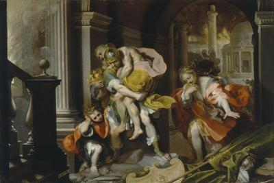 Aeneas and Anchises Escaping from Troy, c.1587