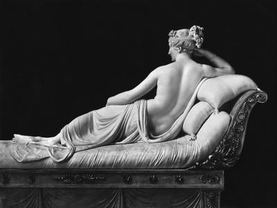 Pauline Bonaparte, Princess Borghese as Venus Triumphant, Rear View, c.1805-08