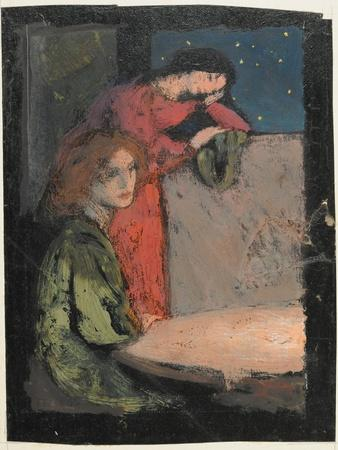 Two Girls by a Table Look Out on a Starry Night, 1905