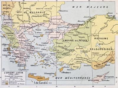 Aegean Region In 13Th Century Old Map