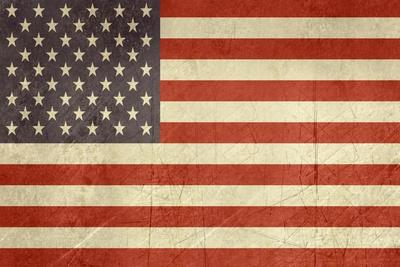 Grunge Sovereign State Flag Of Country Of United States Of America In Official Colors