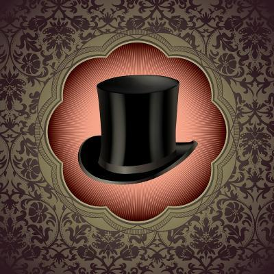 Vintage Floral With Top Hat