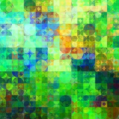 Art Abstract Vibrant Tiles Geometric Pattern For Background