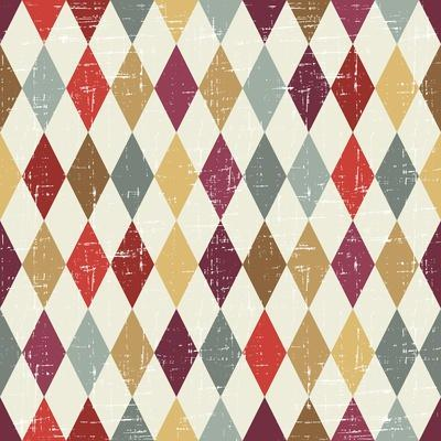 Seamless Abstract Retro Pattern. Stylish Geometric Background