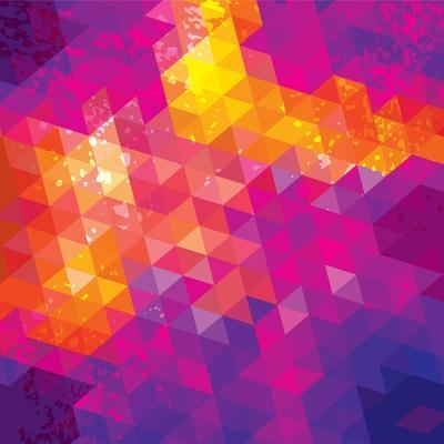 Square Composition With Geometric Shapes. Cover Background