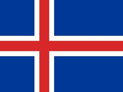 Sovereign State Flag Of Country Of Iceland In Official Colors